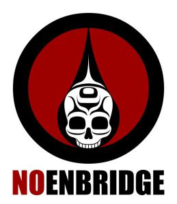 No Enbridge, art by Andy Everson, Kwakwaka'wakw.